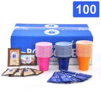 Borbone Kit 100 Zucchero Bicchierini Palettine