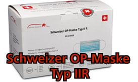 Schweizer OP-Maske Typ IIR 3-lagig Box mit 50 Stk.