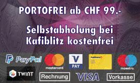 Versandarten bei Kafi-Blitz.ch